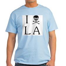 'I Hate LA' light colored t-shirt