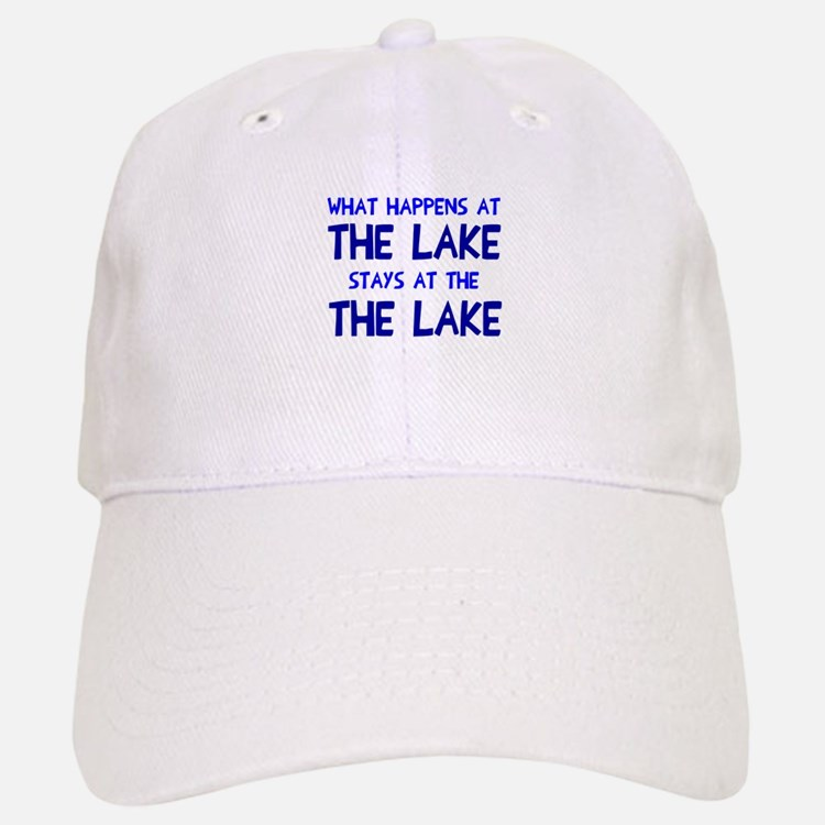 Happens at lake stays Baseball Baseball Cap