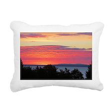 Sun Rise Lake Superior Rectangular Canvas Pillow