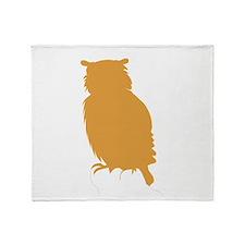 Brown Owl Throw Blanket
