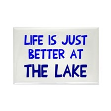Life is just better lake Rectangle Magnet