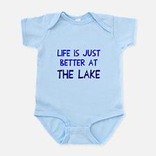 Life is just better lake Infant Bodysuit