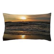 Golden Sunset Lake Superior Pillow Case