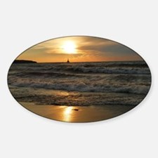 Golden Sunset Lake Superior Decal