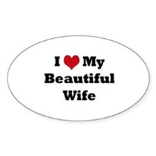 Cute I love my wife Decal