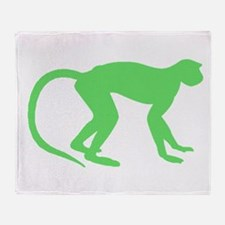 Green Monkey Throw Blanket