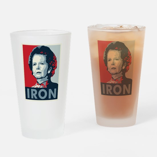 Margaret Thatcher Drinking Glass