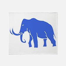 Blue Mammoth Throw Blanket