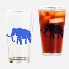 Blue Mammoth Drinking Glass