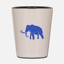 Blue Mammoth Shot Glass