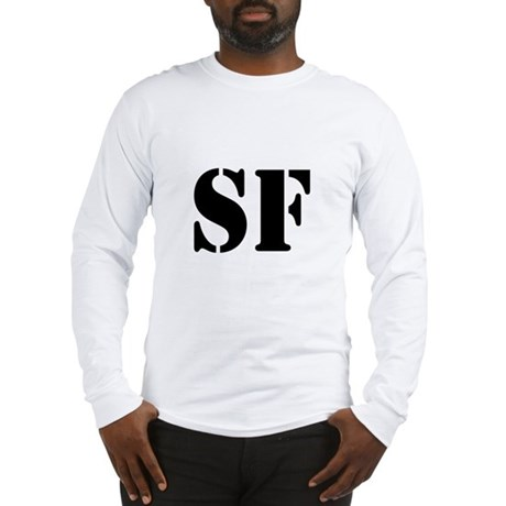 SF White Long Sleeve T-Shirt