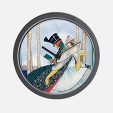 Plank Art Deco Lovers Wall Clock
