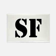 SF White Rectangle Magnet