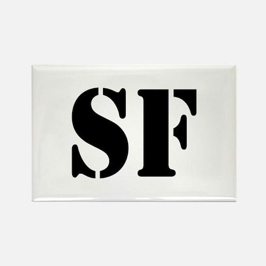 SF White Rectangle Magnet