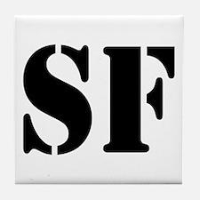 SF White Tile Coaster