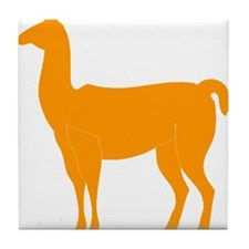Orange Llama Tile Coaster