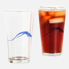 Blue Lizard Drinking Glass