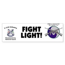 1-115th Bumper Bumper Sticker