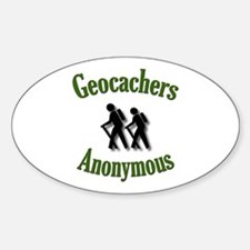 Geocachers Anonymous Oval Decal