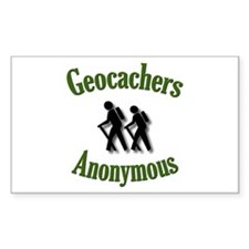 Geocachers Anonymous Rectangle Decal