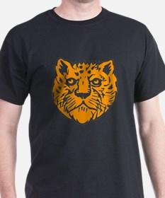 Orange Leopard Face T-Shirt