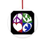 Peace, Earth, Love, Dove (Ornament)