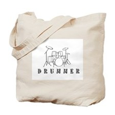 Drummer with Drumset Tote Bag