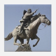Pancho Vill Statue Mexican Revolution Tile Coaster