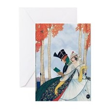 Plank Art Deco Lovers Greeting Cards