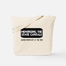 Memorizing State Capitals Tote Bag