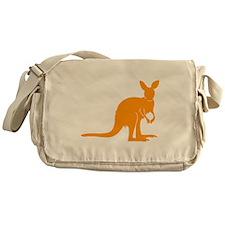 Orange Kangaroo Messenger Bag
