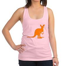 Orange Kangaroo Racerback Tank Top