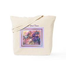 Pastel Monarchs Personalized Purple Text Tote Bag