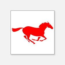 Red Horse Running Sticker