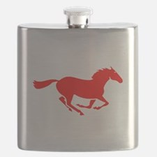 Red Horse Running Flask
