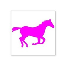 Pink Horse Running Sticker