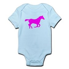 Pink Horse Running Body Suit