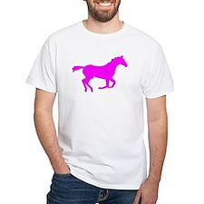 Pink Horse Running T-Shirt