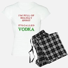 Holiday Spirit Vodka pajamas