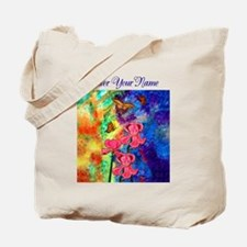 Swallowtail Attraction Navy Text Tote Bag