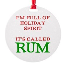 Holiday Spirit Rum Ornament