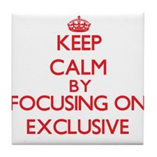 Keep Calm by focusing on EXCLUSIVE Tile Coaster