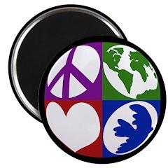 Peace, Earth, Love, Dove Magnet