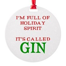 Holiday Spirit Gin Ornament