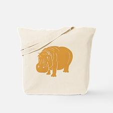 Brown Hippopotamus Tote Bag