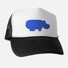 Blue Hippopotamus Trucker Hat