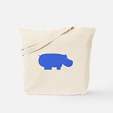 Blue Hippopotamus Tote Bag