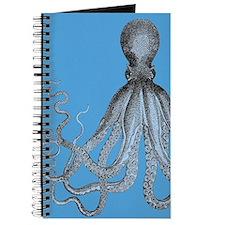 Vintage Octopus in Duo blue tones Journal