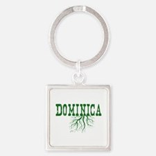Dominica Roots Square Keychain