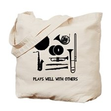 Band plays well with others Tote Bag